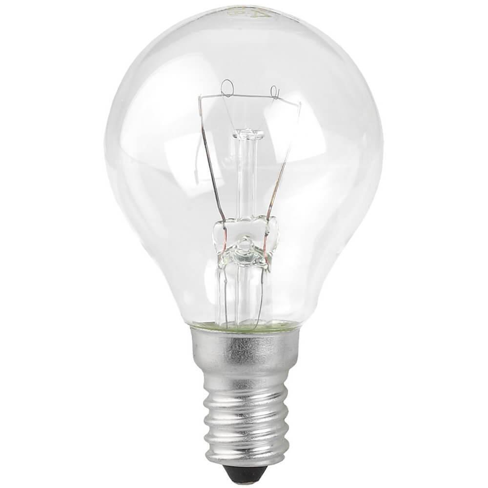 Лампа накаливания ЭРА E14 60W 2700K прозрачная P45-60W-E14/ДШ 230-60 Е 14 (гофра) phillips лампа накаливания ge 60w e14 свеча прозрачная