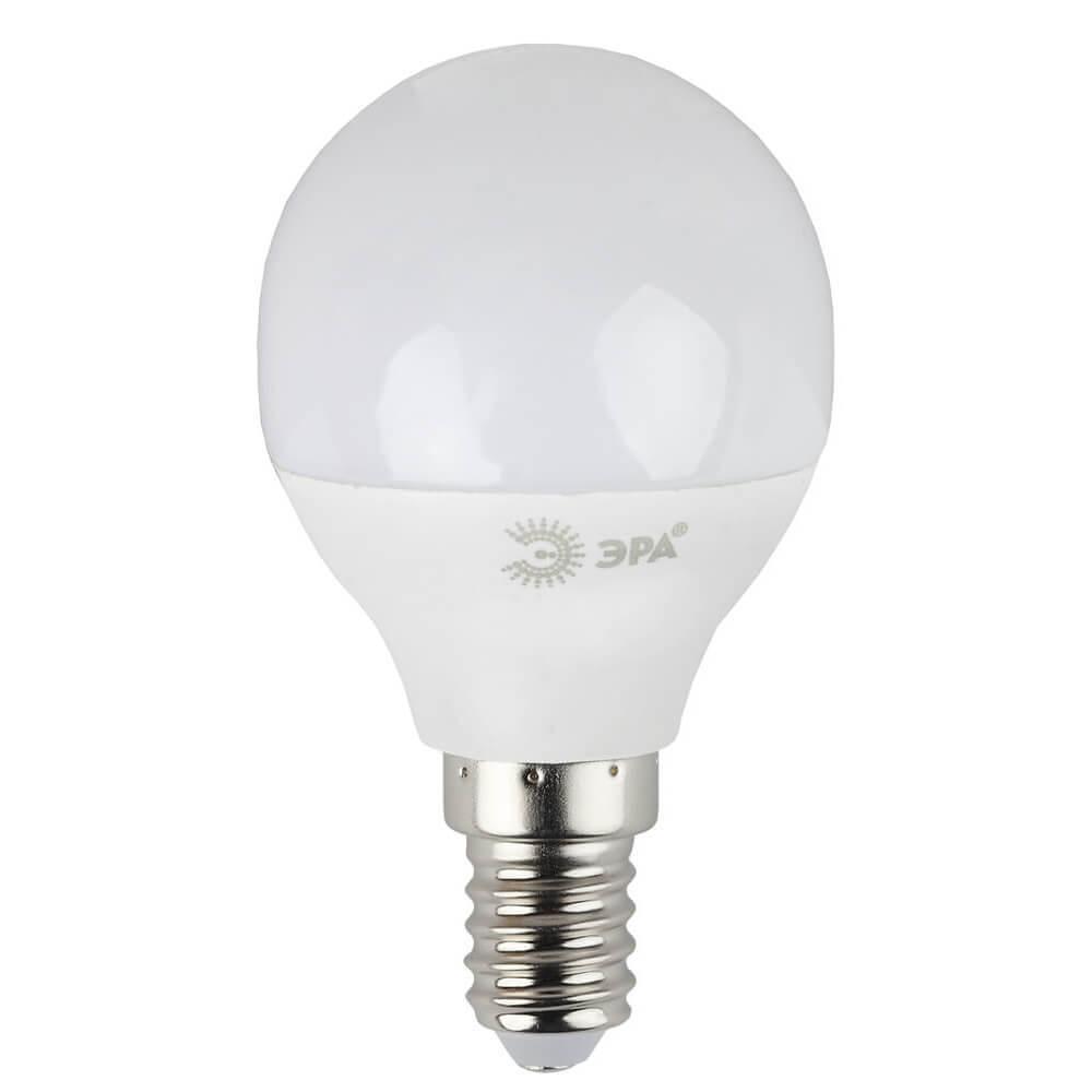 Лампа светодиодная ЭРА E14 7W 6000K матовая LED P45-7W-860-E14 цена и фото
