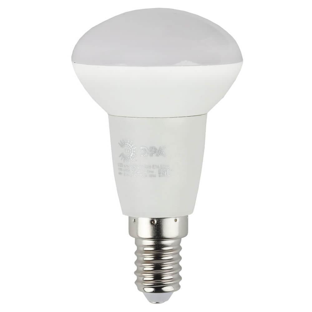 Лампа светодиодная ЭРА E14 6W 2700K матовая ECO LED R50-6W-827-E14