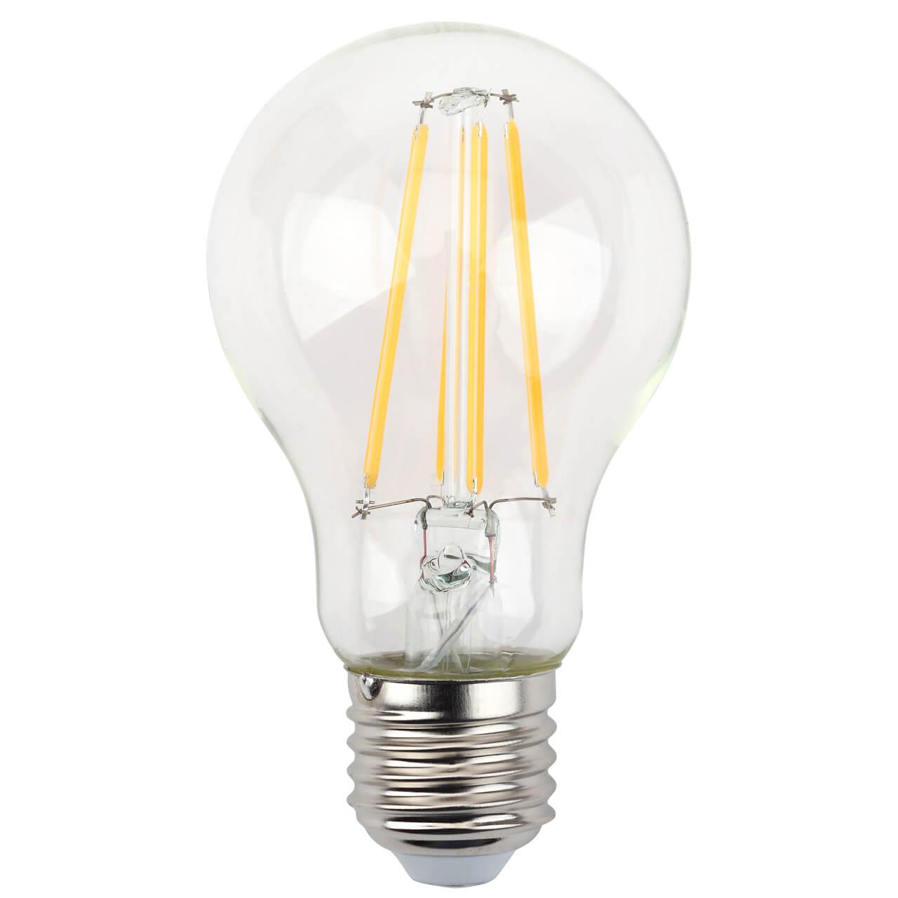 Лампа светодиодная филаментная ЭРА E27 13W 2700K прозрачная F-LED A60-13W-827-E27 цены