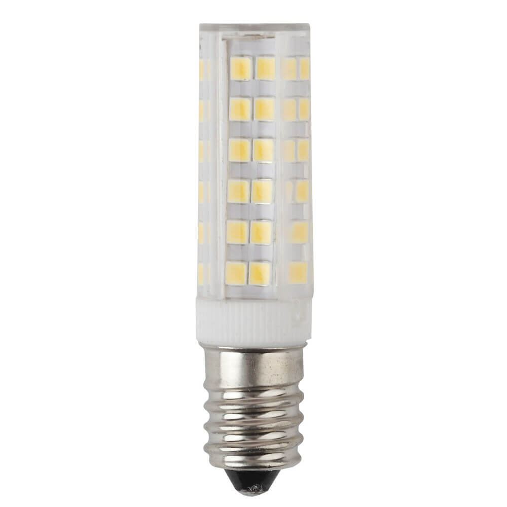 Лампа светодиодная ЭРА E14 7W 4000K прозрачная LED T25-7W-CORN-840-E14