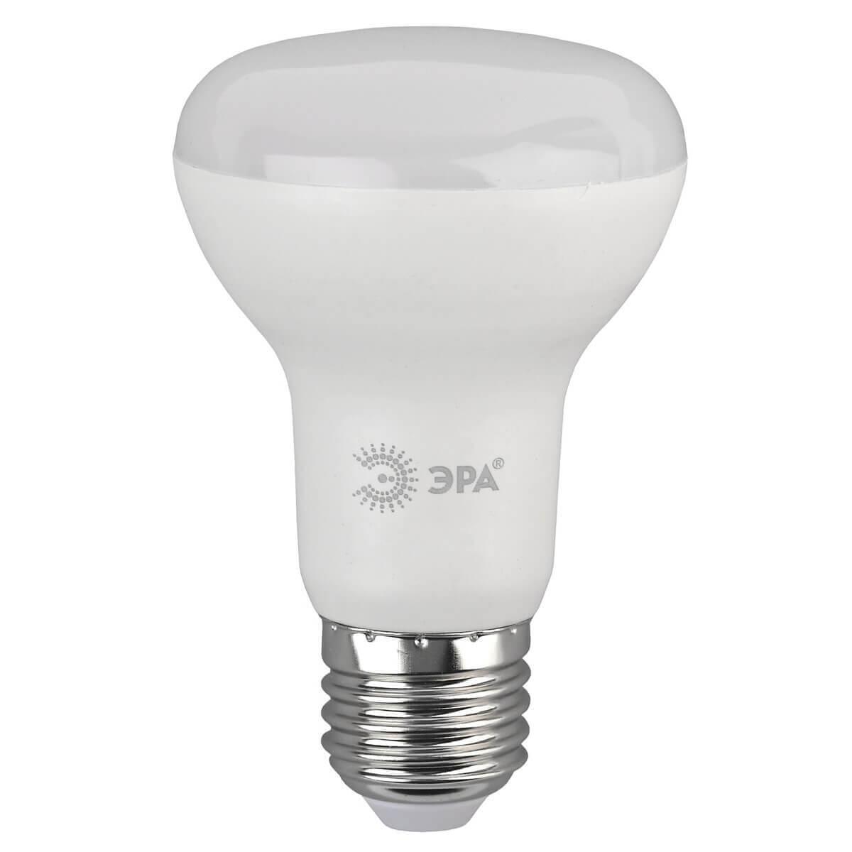 Лампа светодиодная ЭРА E27 8W 2700K матовая LED R63-8W-827-E27