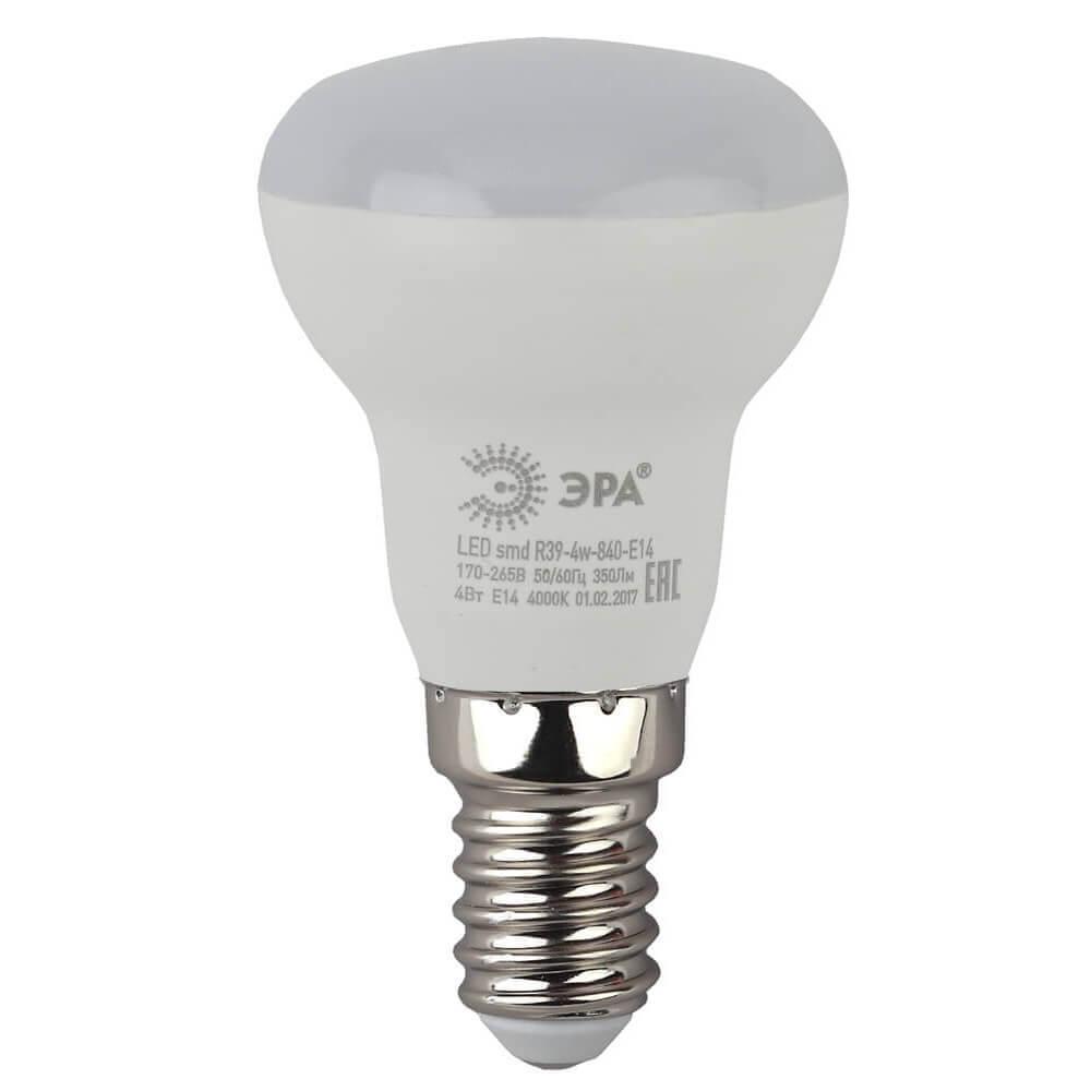 цена Лампа светодиодная ЭРА E14 4W 4000K матовая LED R39-4W-840-E14 онлайн в 2017 году