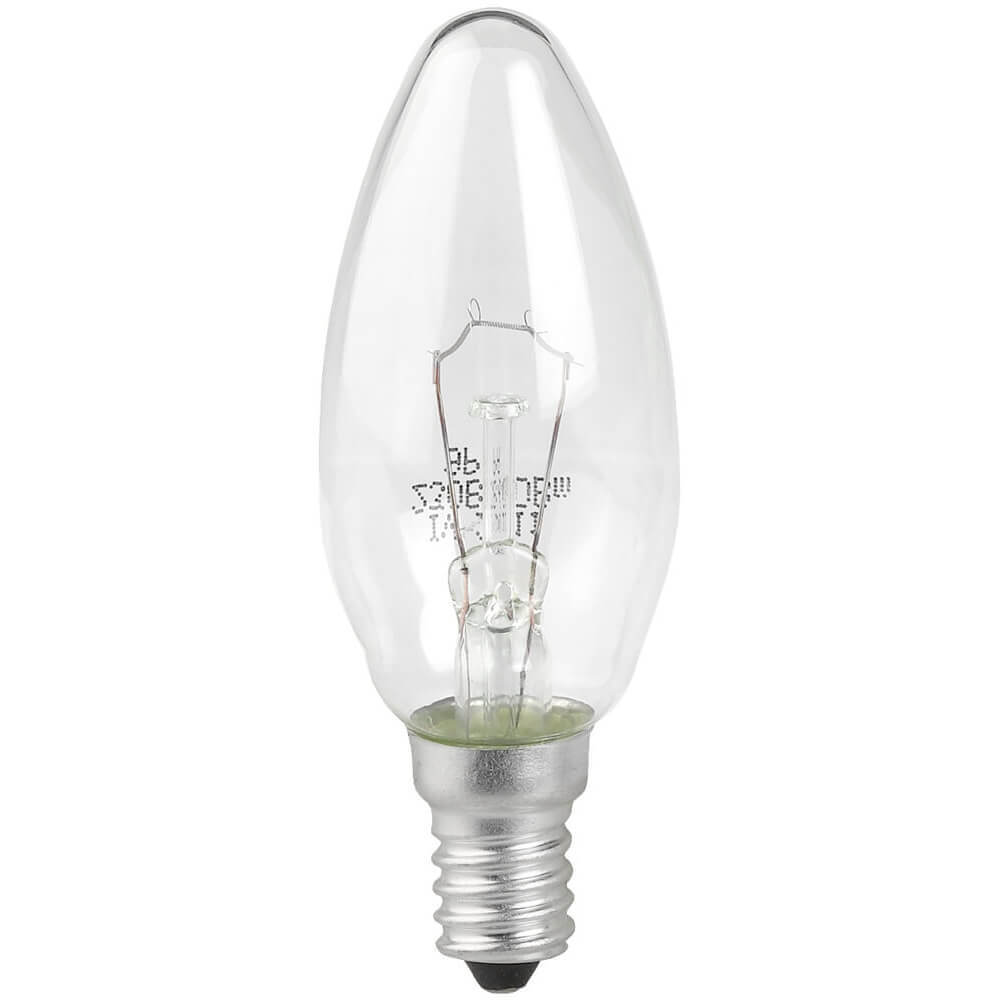 Лампа накаливания ЭРА E14 60W 2700K прозрачная ДС 60-230-Е14 (гофра) phillips лампа накаливания ge 60w e14 свеча прозрачная