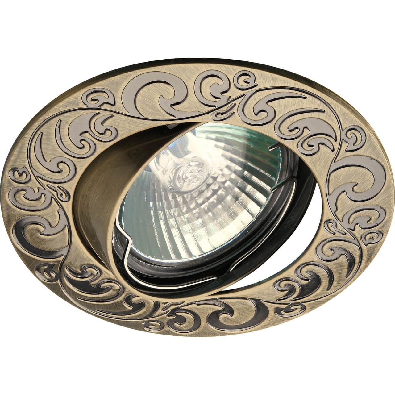 Встраиваемый светильник ЭРА Литой KL26 А SB цена