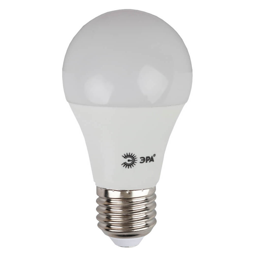 Лампа светодиодная ЭРА E27 10W 2700K матовая ECO LED A60-10W-827-E27