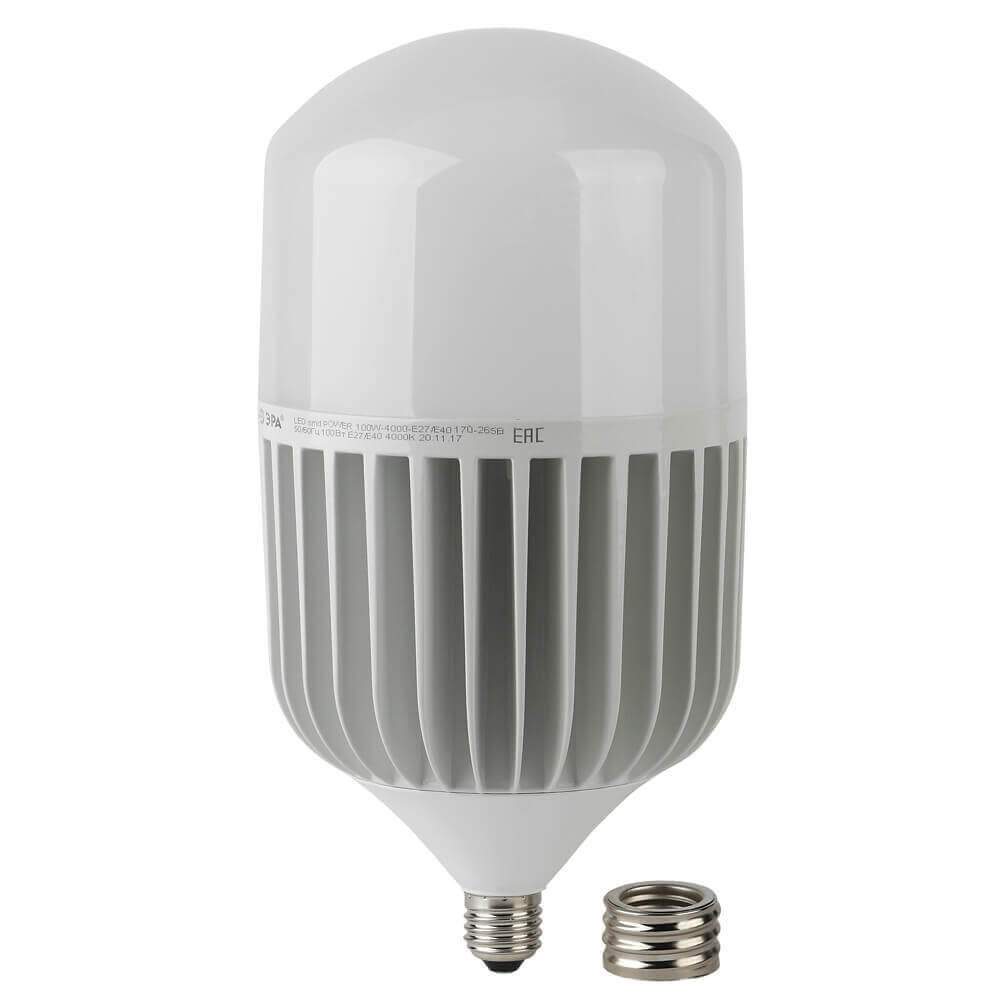 цена на Лампа светодиодная ЭРА E40 100W 6500K матовая LED POWER T160-100W-6500-E27/E40