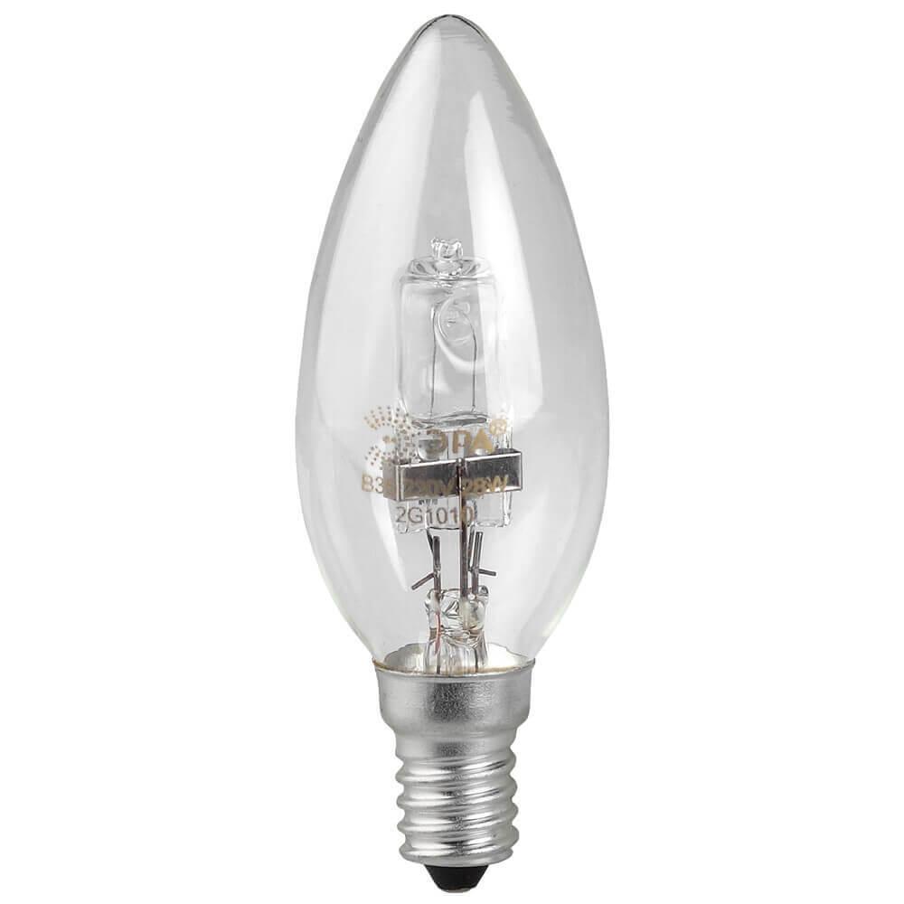 Лампа галогенная ЭРА E14 28W 2700K прозрачная HAL-B35-28W-230V-E14-CL лампа галогенная e27 28w прозрачная 4690389020919