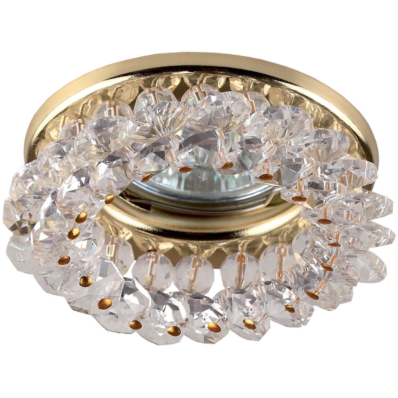 все цены на Встраиваемый светильник ЭРА Декор DK16 GD/WH онлайн