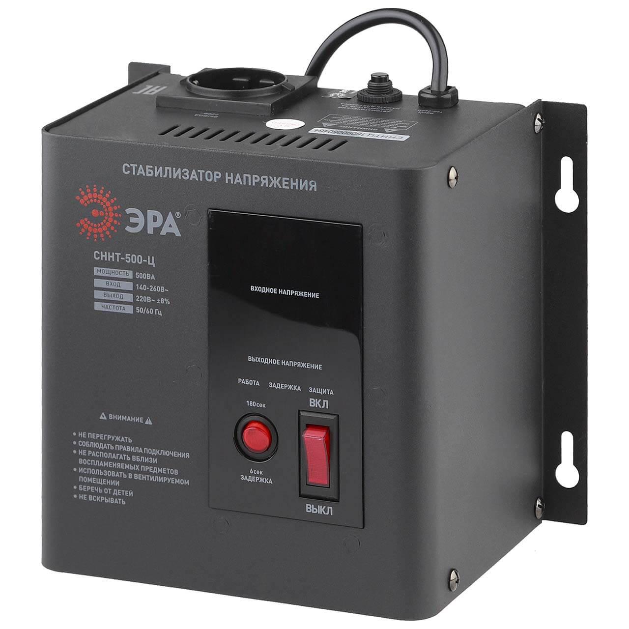 Стабилизатор напряжения ЭРА СННТ-500-Ц цена