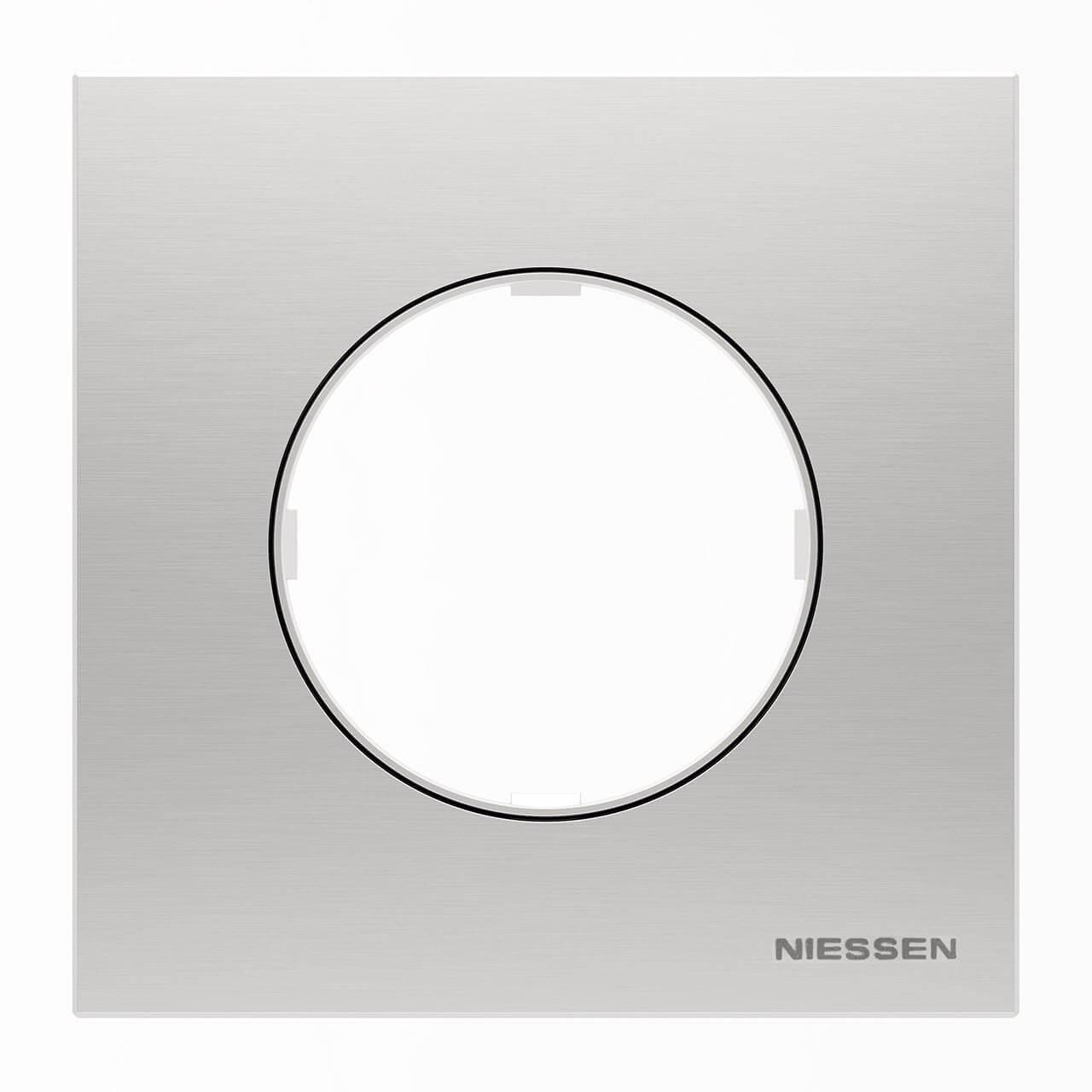 Рамка 1-постовая ABB Sky Moon нержавеющая сталь 2CLA867100A4001