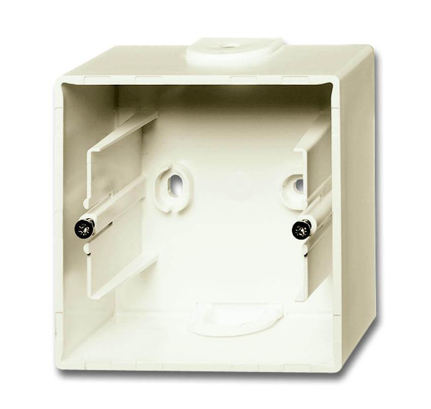 цена на Коробка для накладного монтажа 1-постовая ABB Basic55 слоновая кость 2CKA001799A0971