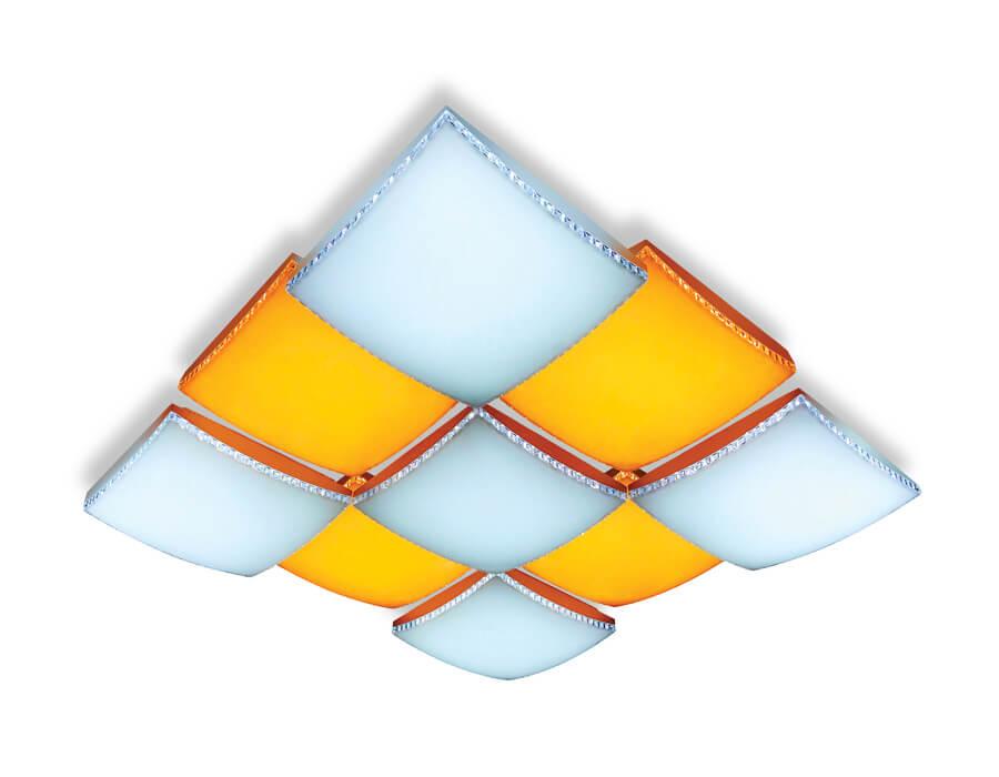Потолочный светодиодный светильник Ambrella light Orbital Parrus FP2329 WH 288W D720*720