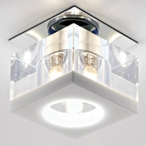 Светильник Ambrella light D8031 CL/W Glass светильник fametto dls l127 2001 luciole chrome glass