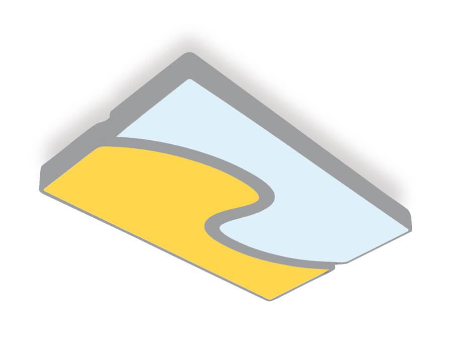 Светильник Ambrella light FP2402 WH/BK 180W D680*415 Orbital Parrus