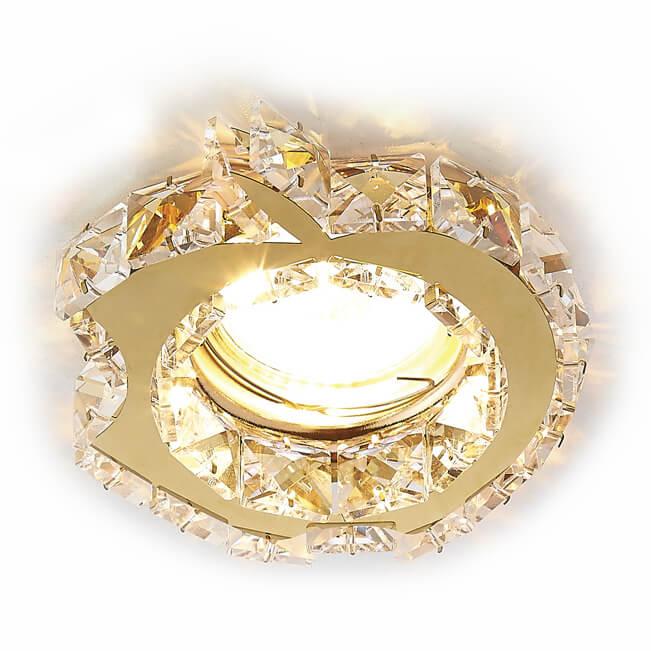Светильник Ambrella light K88 GD/CL Ceiling электростандарт светильник точечный 206 mr16 gd cl золото прозрачный