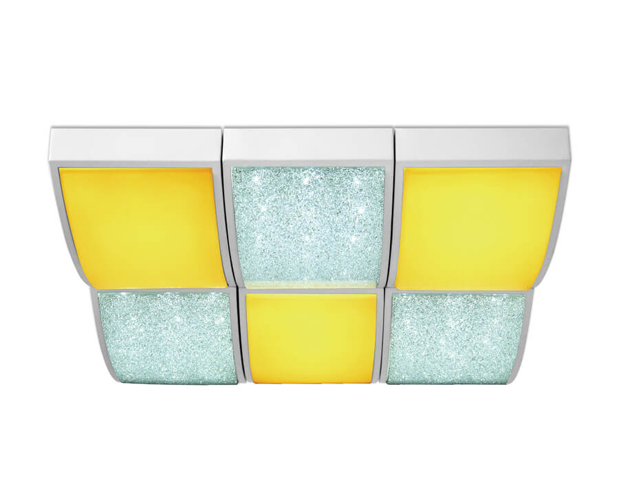 цены Потолочный светодиодный светильник Ambrella light Orbital Crystal Sand FS1510 WH/SD 144W D540*540