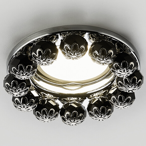 Светильник Ambrella light K203 BK/CH Ceiling