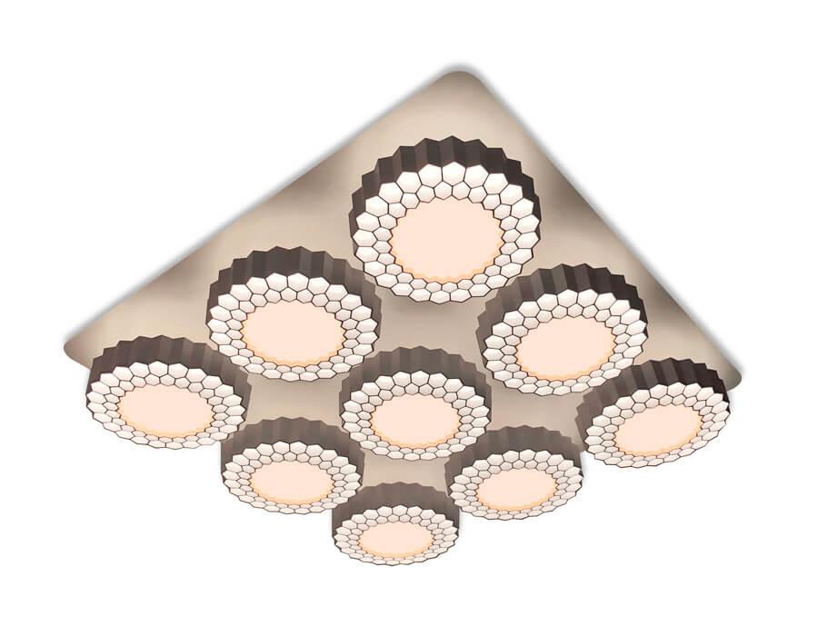 Люстра Ambrella light FH14/9 WH 288W D750*750 Orbital High-Tech