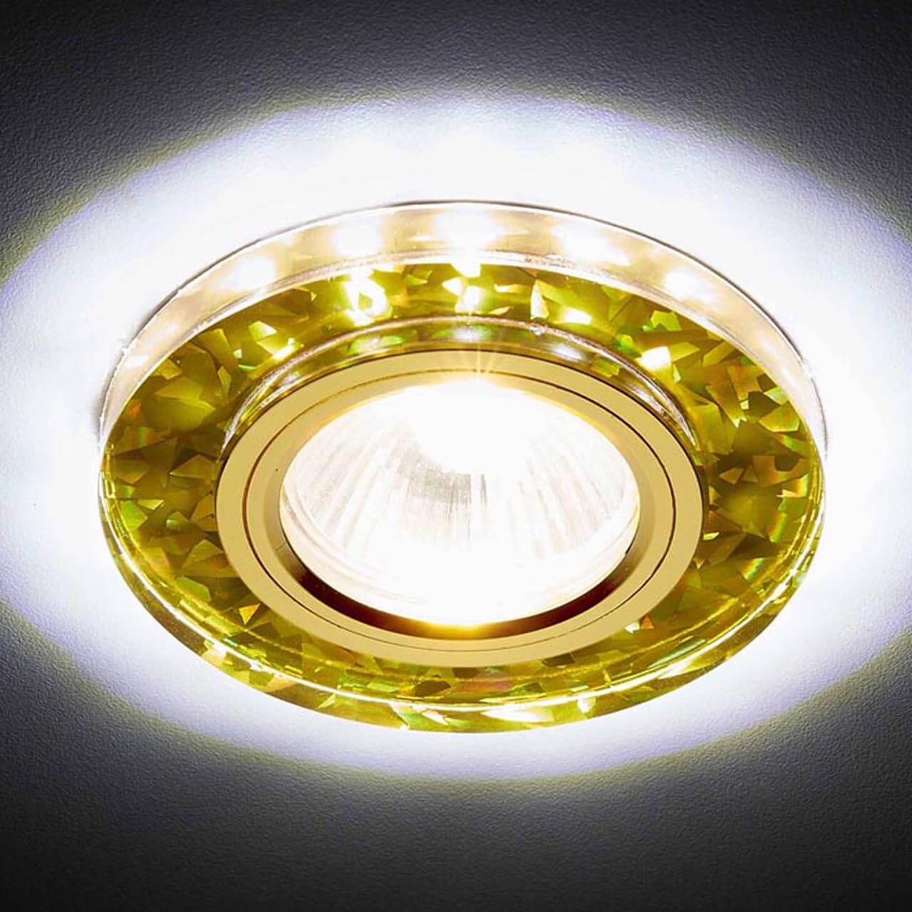 Встраиваемый светодиодный светильник Ambrella light Led S225 WH/G/WH elvan точечный светильник elvan sd 8016 g wh