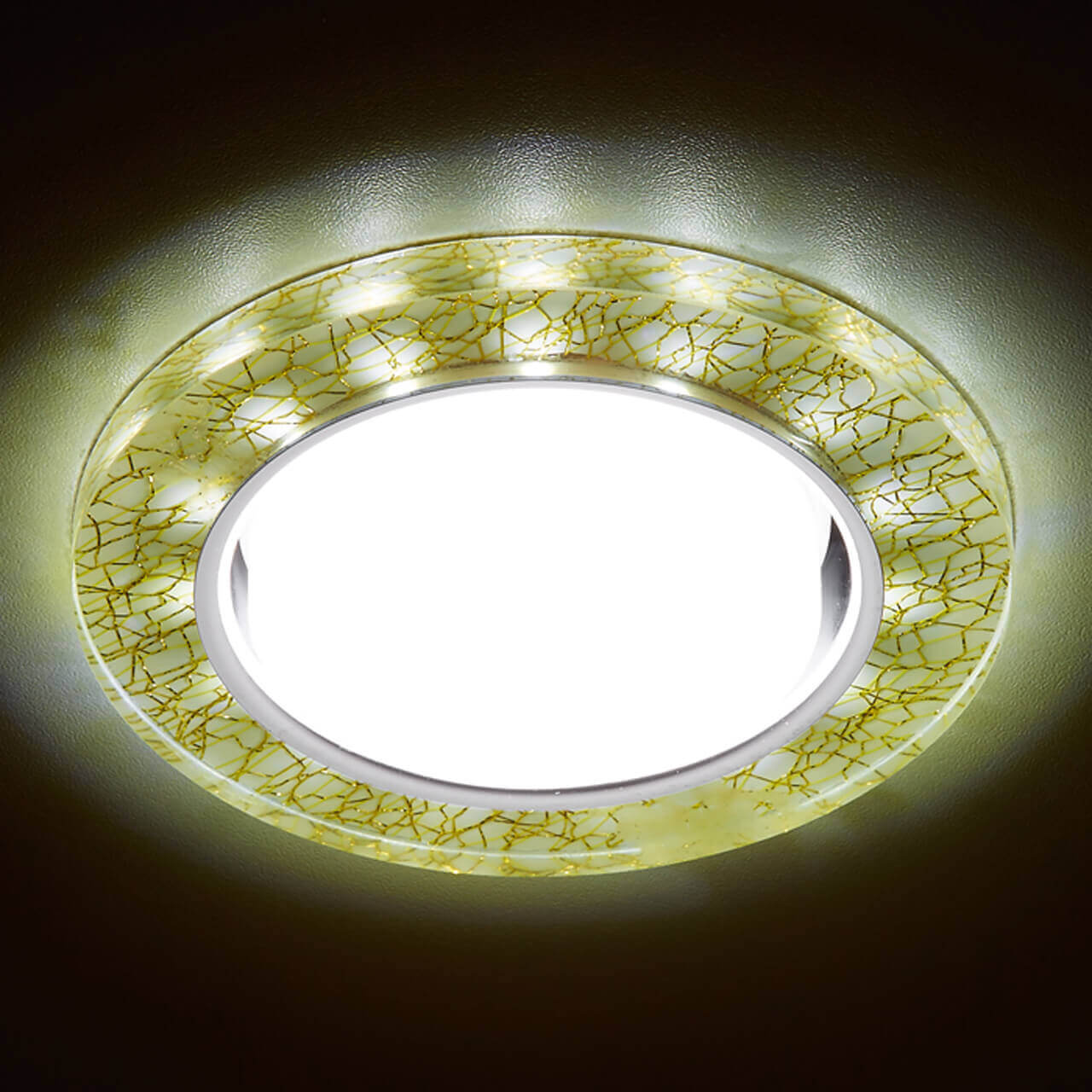 Встраиваемый светильник Ambrella light GX53 LED G248 W/GD th 7006a foldable 16x magnifier w led light