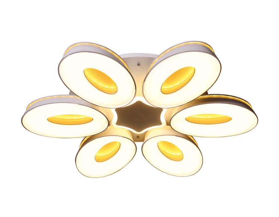 Люстра Ambrella light FG1022/6+1 WH 144W+80W D1000 Orbital Granule