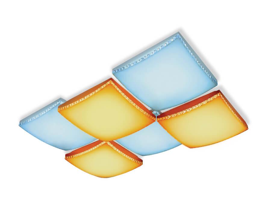 Потолочный светодиодный светильник Ambrella light Orbital Parrus FP2326 WH 192W D720*480