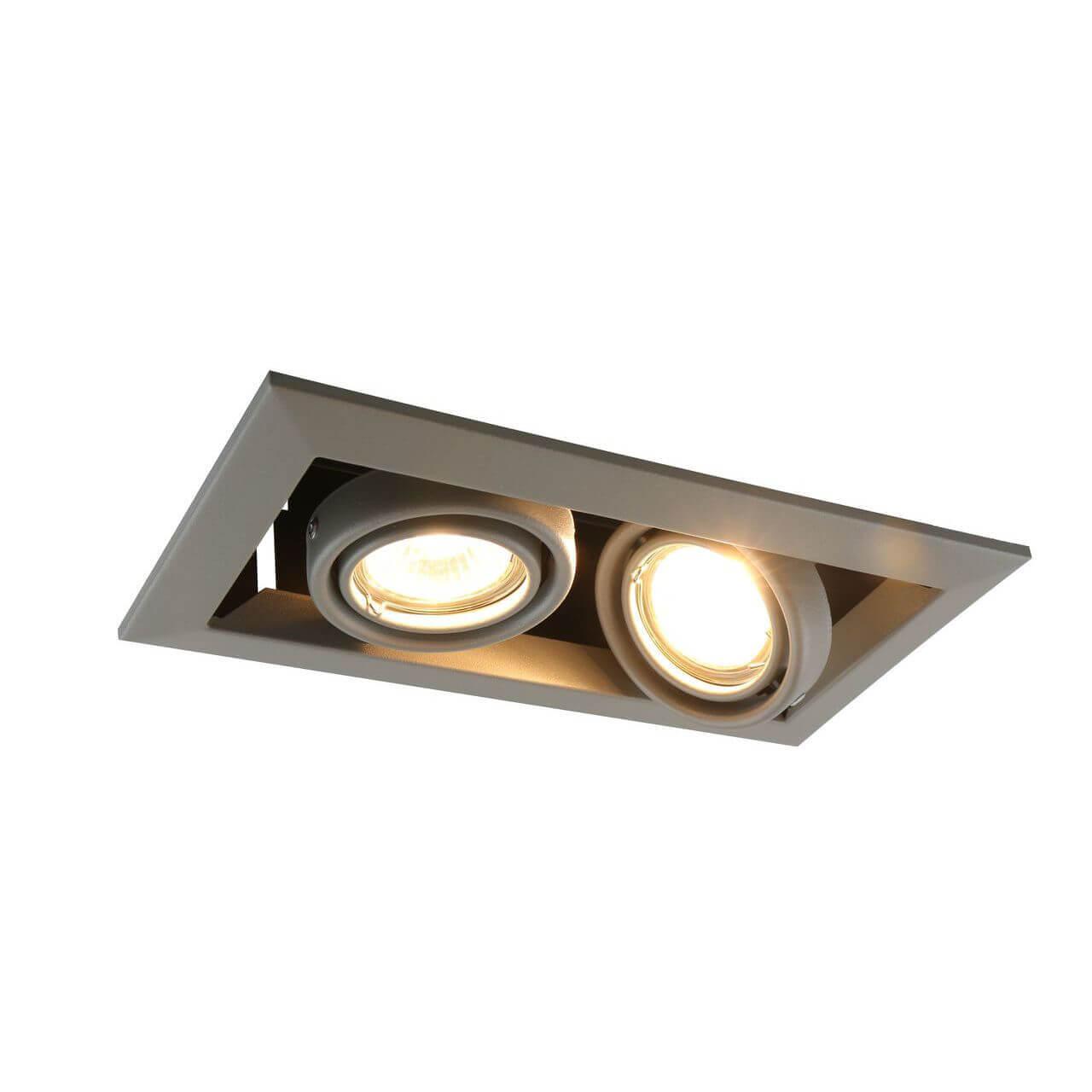 Встраиваемый светильник Arte Lamp Cardani Piccolo A5941PL-2GY arte lamp встраиваемый светильник arte lamp cardani silver a5941pl 4si