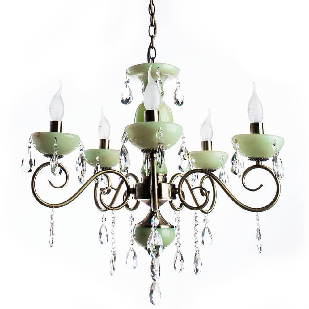цена на Подвесная люстра Arte Lamp Onyx Green A9592LM-5AB