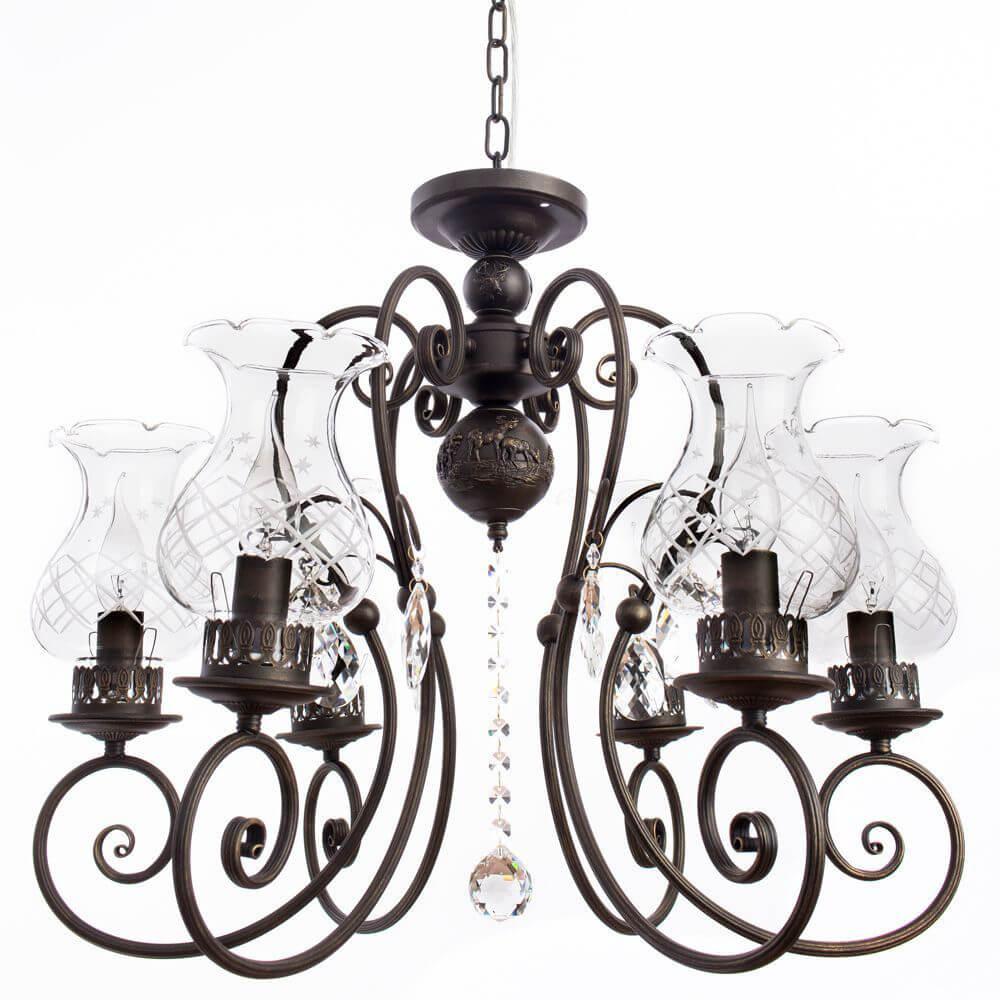 цены Подвесная люстра Arte Lamp Palermo A2053LM-6BR