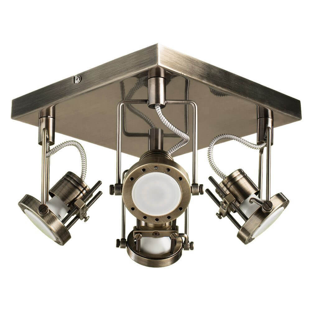 цена на Спот Arte Lamp A4300PL-4AB Costruttore Bronze
