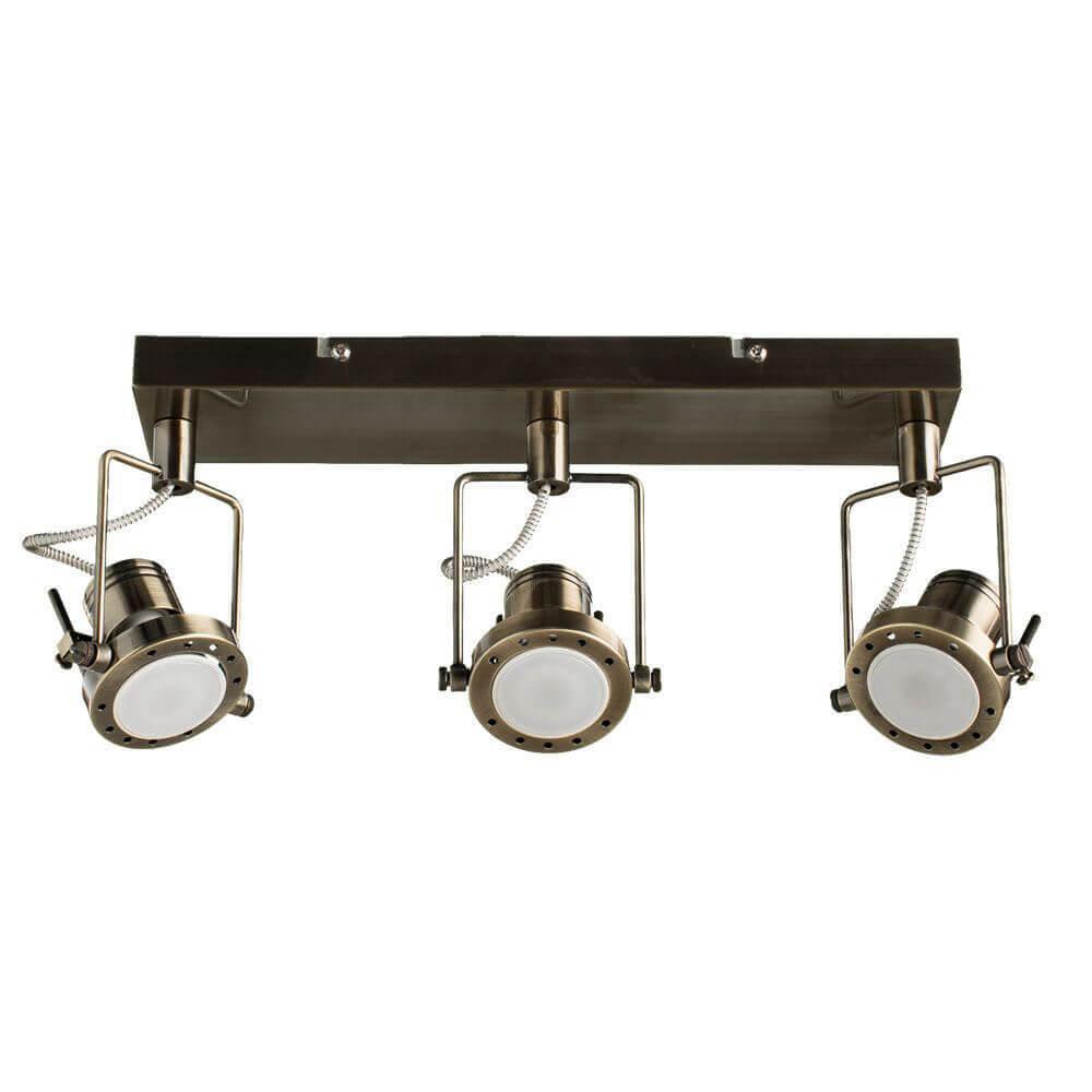 цена на Спот Arte Lamp A4300PL-3AB Costruttore Bronze