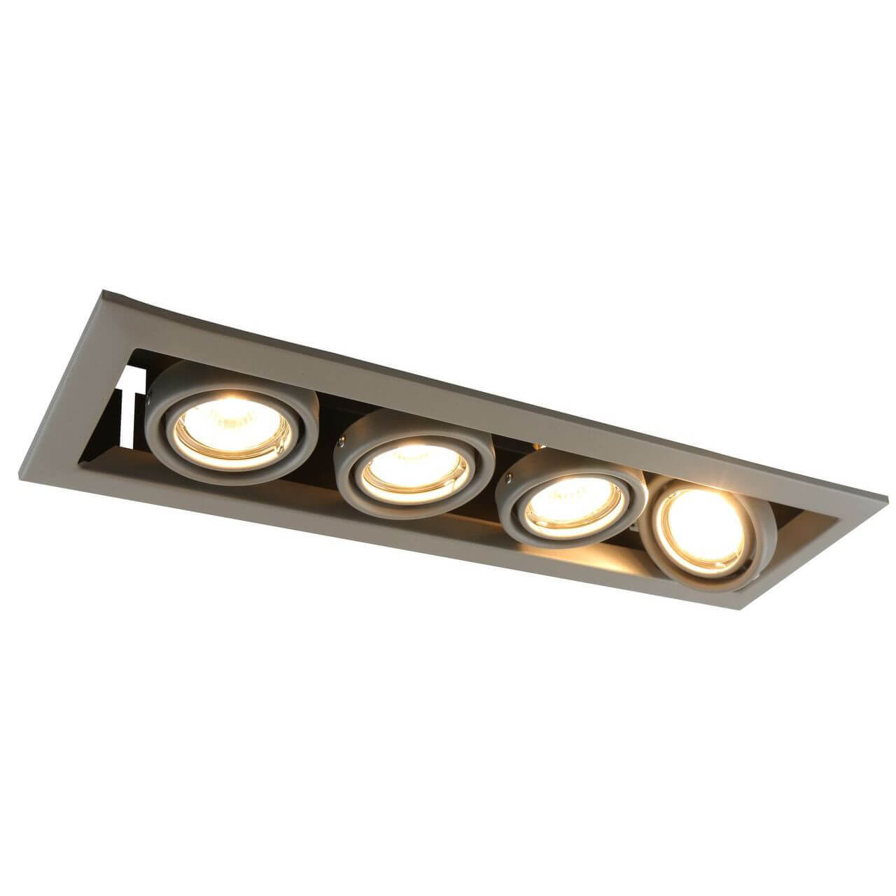Встраиваемый светильник Arte Lamp Cardani Piccolo A5941PL-4GY arte lamp встраиваемый светильник arte lamp cardani silver a5941pl 4si