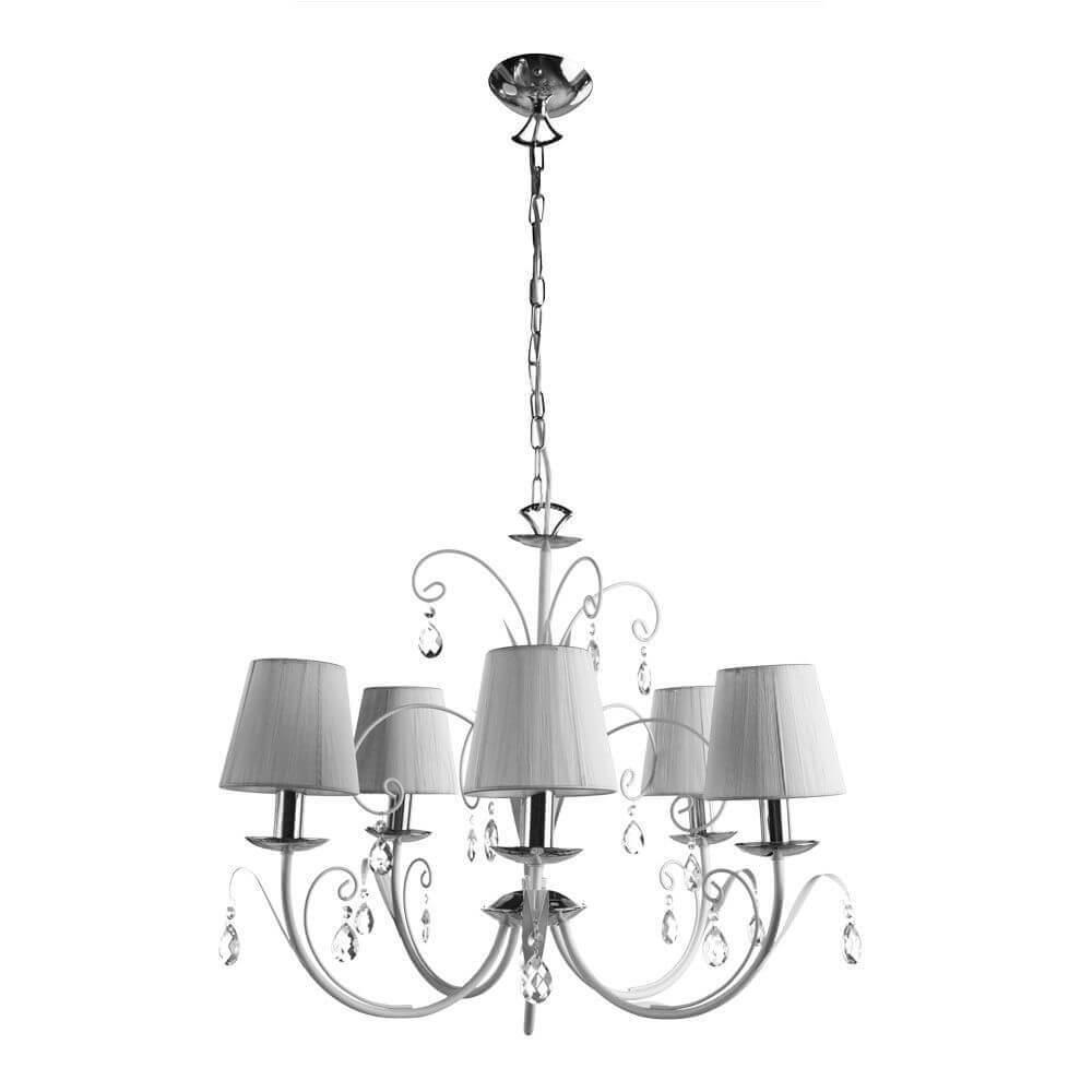 цены Люстра Arte Lamp A1743LM-5WH Romana Snow