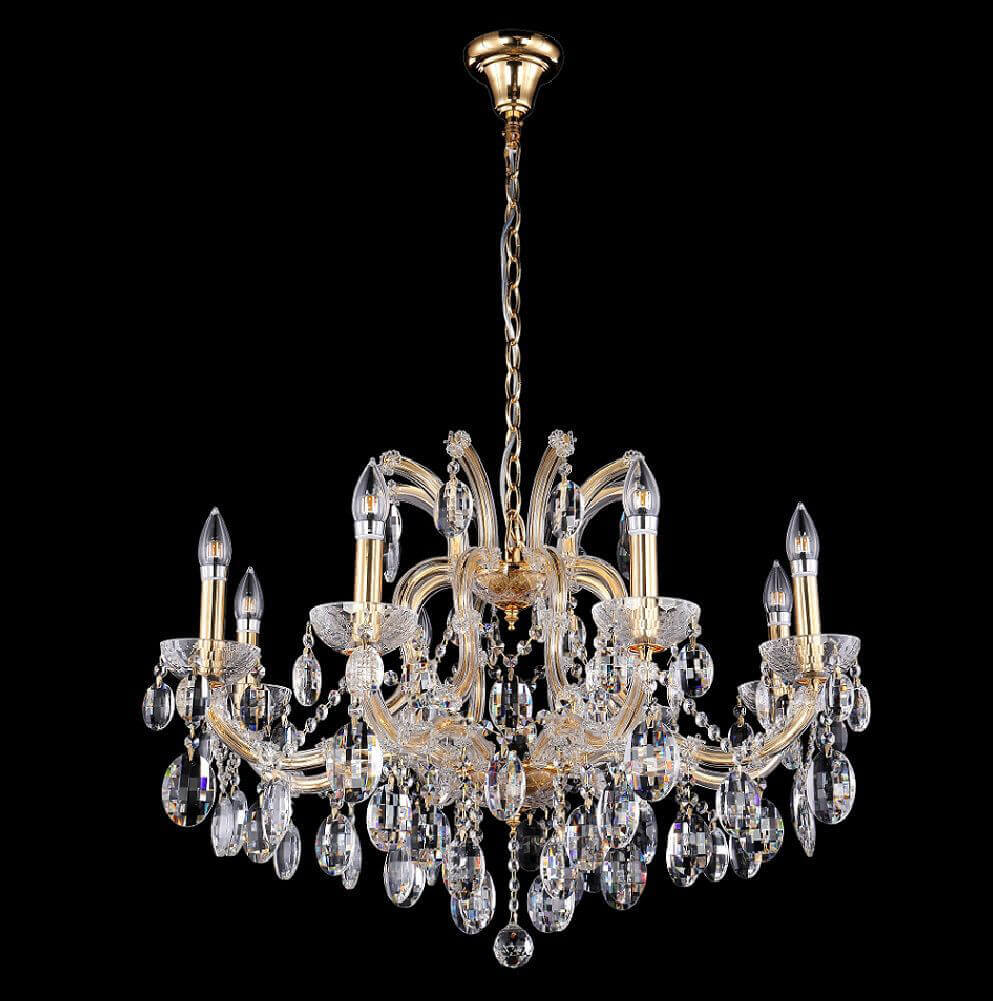 gold Люстра Crystal Lux Hollywood SP8 Gold Hollywood Gold