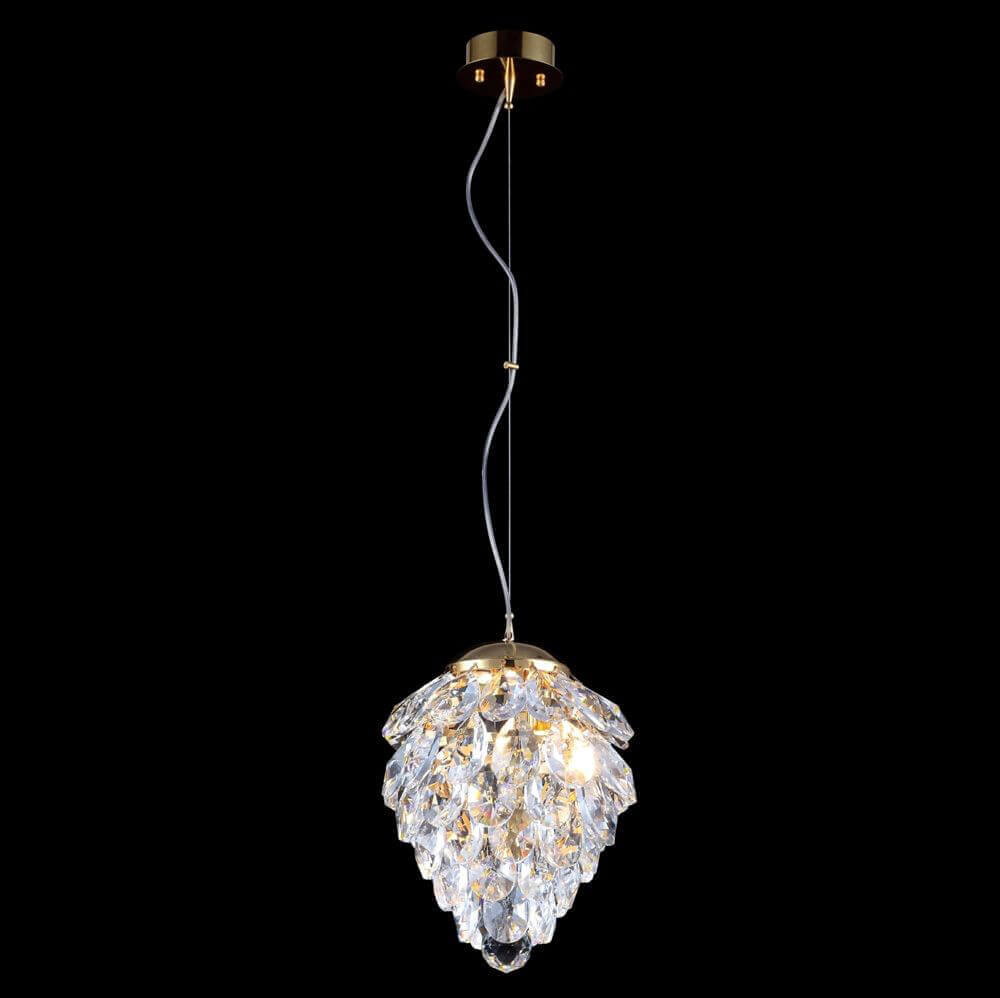 Светильник Crystal Lux Charme SP1+1 Led Gold/Transparent Charme