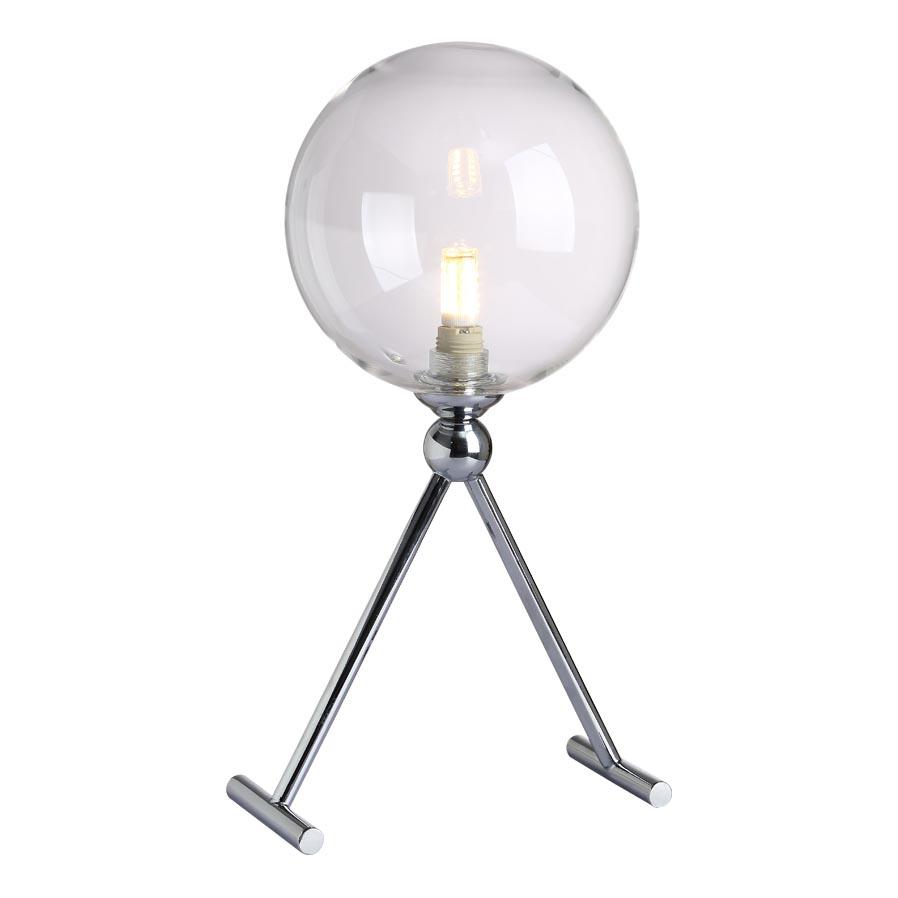 Настольная лампа Crystal Lux Fabricio LG1 Chrome/Transparente Fabricio