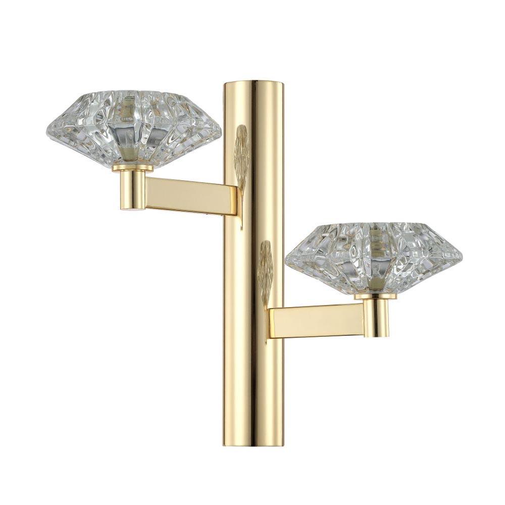 Бра Crystal Lux Rebeca AP2 Gold Rebeca