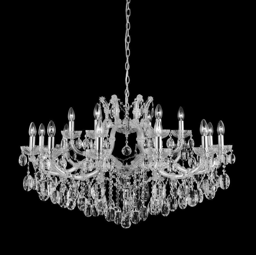 люстра apl22338791 6 chrome люстра arte perfetto luce Люстра Crystal Lux Hollywood SP12+6 Chrome Hollywood