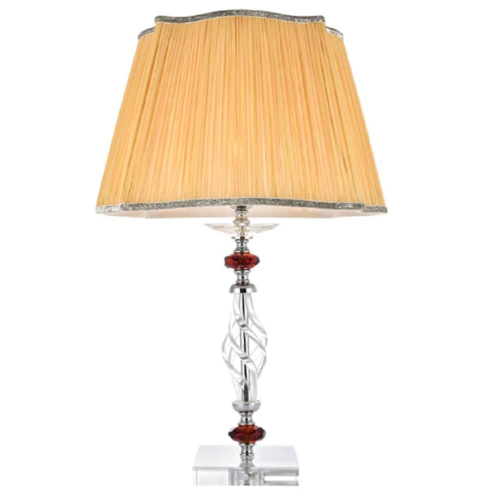 Настольная лампа Crystal Lux Catarina LG1 Gold/Transparent-Cognac Catarina недорого