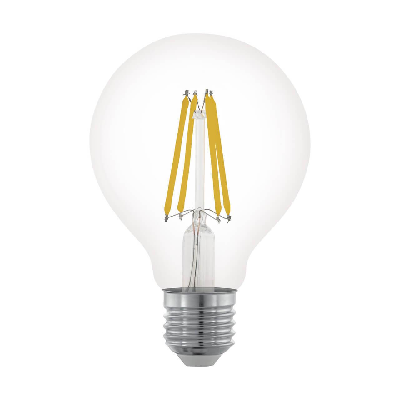 Лампа светодиодная филаментная диммируемая Eglo E27 6W 2700К прозрачная 11703 цены онлайн