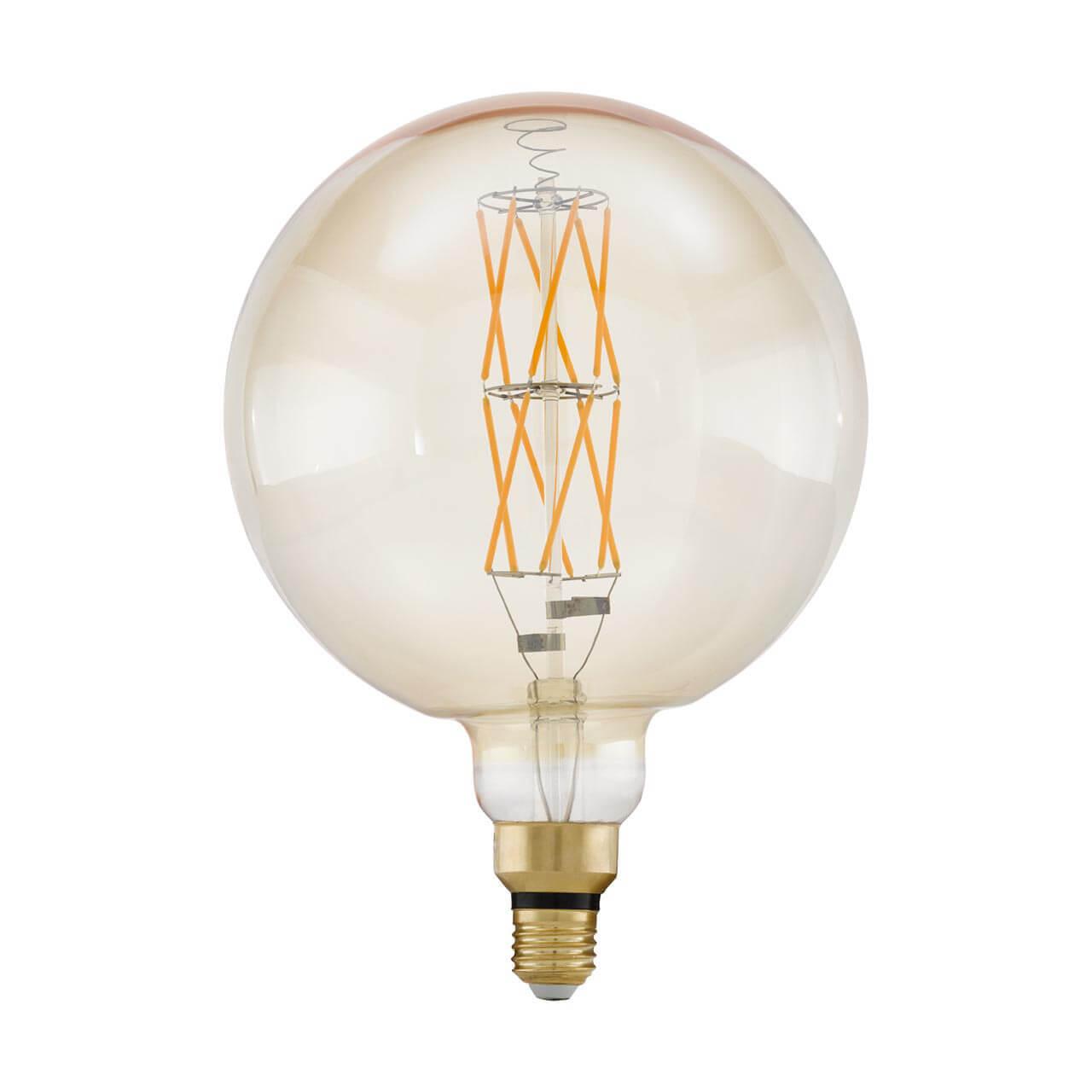 цена на Лампа светодиодная филаментная диммируемая Eglo E27 8W 2100К янтарь 11687