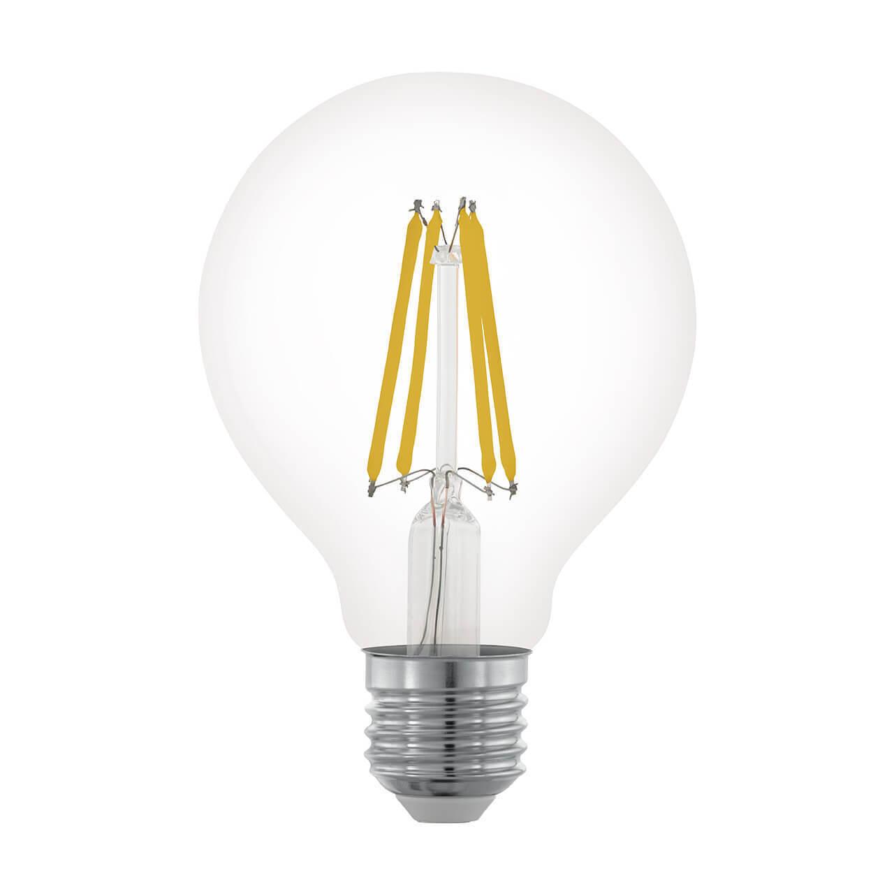 Лампа светодиодная филаментная диммируемая Eglo E27 6W 2700К прозрачная 11702 цены онлайн