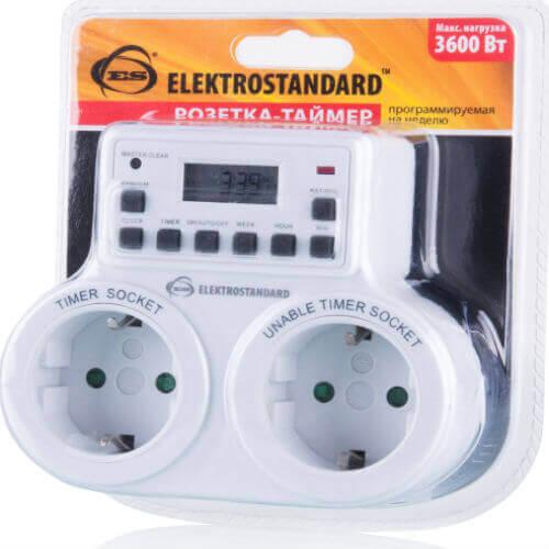 Розетка-таймер Elektrostandard TMH-E-5 16A x2 IP20 Белый 4690389032424 elektrostandard page 5