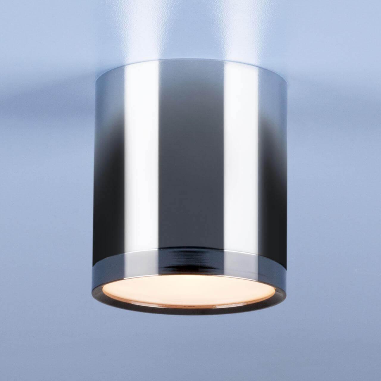 Потолочный светодиодный светильник Elektrostandard DLR024 6W 4200K хром/черный хром 4690389121968 цена