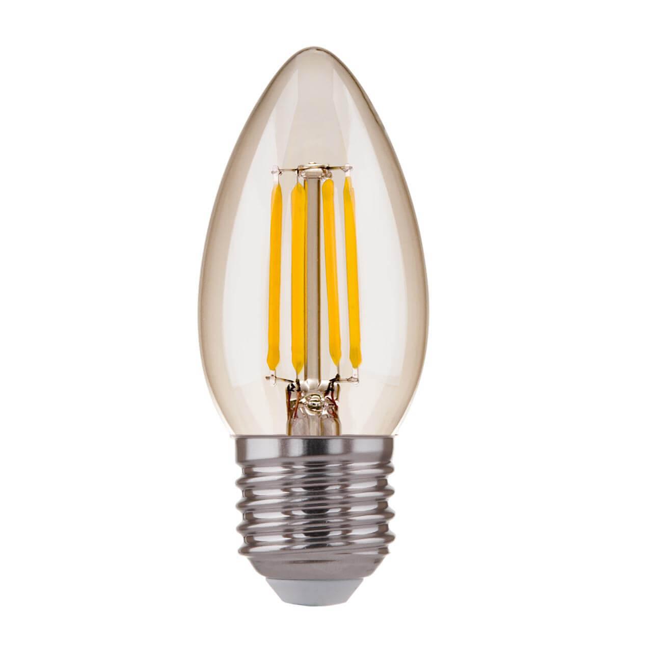 купить Лампа светодиодная филаментная Elektrostandard E27 7W 4200K прозрачная 4690389125263 по цене 143 рублей