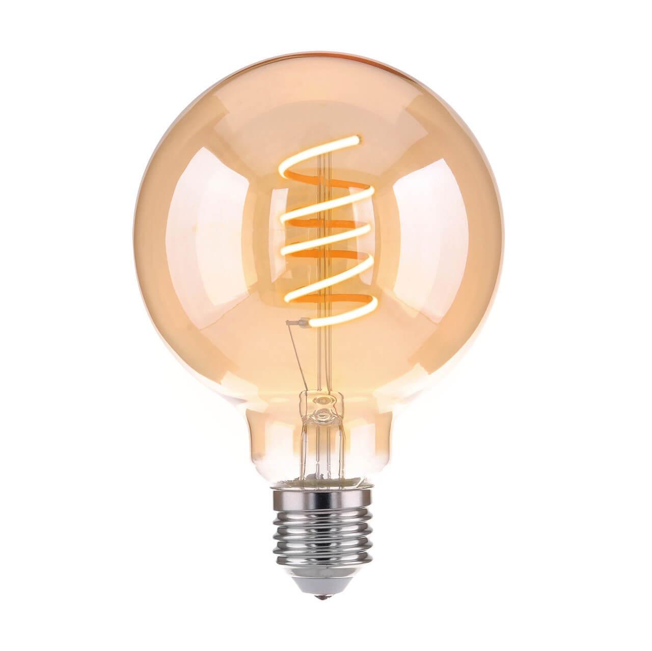 Лампа светодиодная филаментная Elektrostandard E27 8W 3300K золотистая 4690389125232