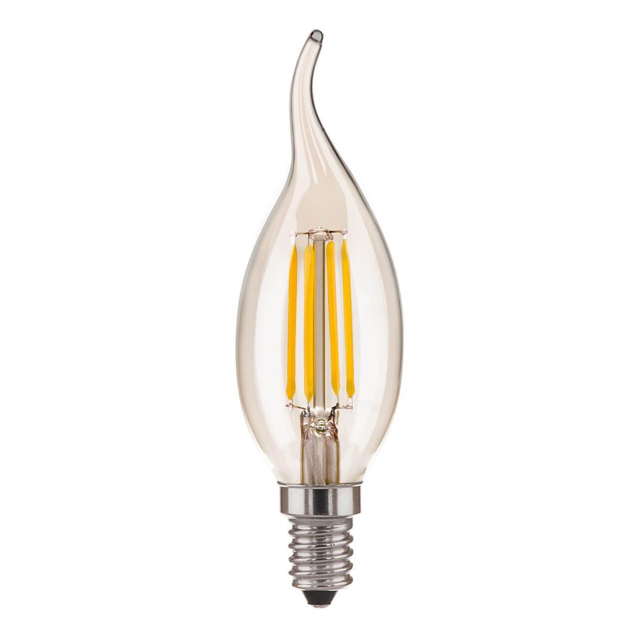 купить Лампа светодиодная филаментная Elektrostandard E14 7W 4200K прозрачная 4690389128363 по цене 143 рублей