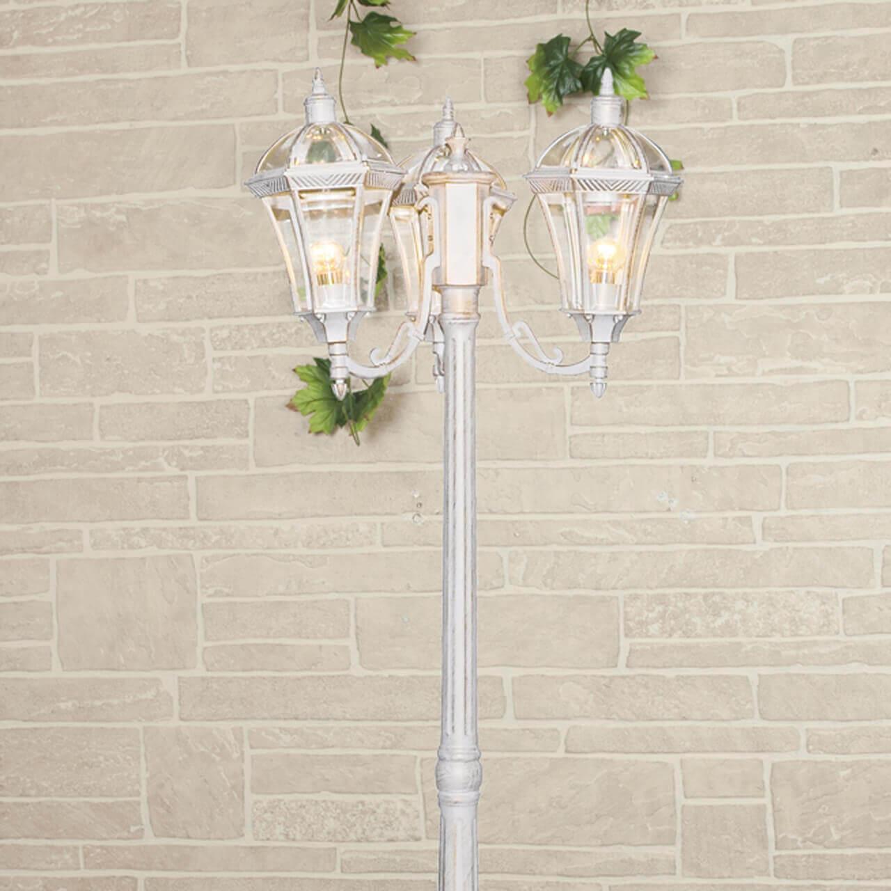 Садово-парковый светильник Elektrostandard Capella F/3 белое золото 4690389082412 цена в Москве и Питере