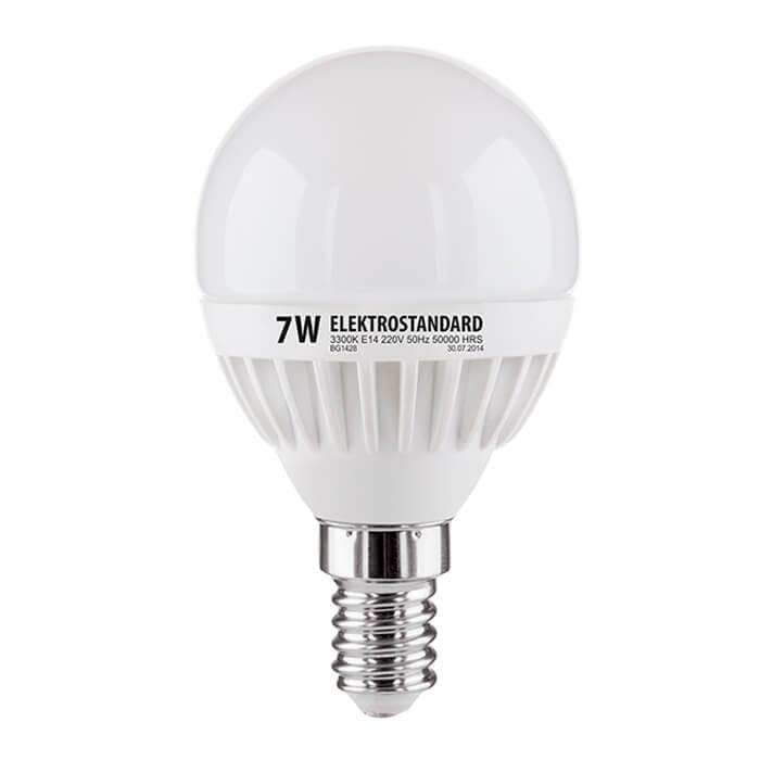 Лампа светодиодная Elektrostandard E14 7W 3300K матовая 4690389085376